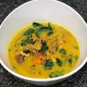 Coconut Chicken curry, gluten free, dairy free